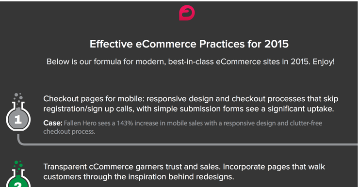 Best eCommerce practices for 2015